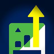 Smaller blue background vector image for online installment loans